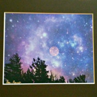"INDIGO Photographic Art, Night Sky, Stars, Wall Decor, 8"" x 10"" image, 11"" x 14"" mat"