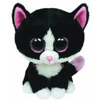 TY Beanie Boos - PEPPER the Black & White Cat (Glitter Eyes) (Regular Size - 6 inch)
