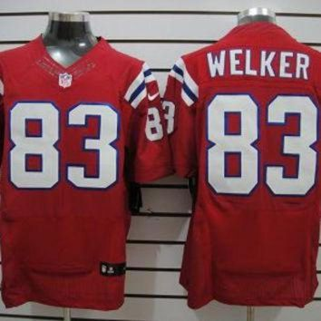 PEAPYD9 Nike Patriots #83 Wes Welker Red Throwback Mens NFL Elite Jersey