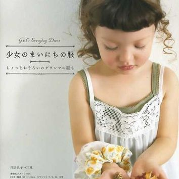 Daily Girls Clothes - Japanese Sewing Pattern Book for Girl's Dress - Yoshiko Tisukiori - B210
