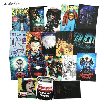 18 Pcs/Set Stranger Things Stickers For Laptop Sticker Car Bicycle Backpack Decal Pegatinas DIY Waterproof PVC Toy Stickers