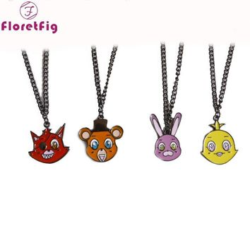 10pcs/lot  at freddy figure necklaces necklaces for kids enamel movie jewelry cosplay 5 nights at backpack