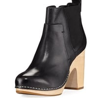 Veronica Beard Camila Wooden-Heel Chelsea Boot