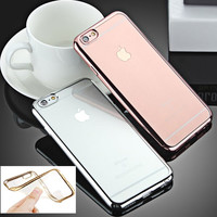 soft clean  for iPhone  Cover Case 5S SE 6 6S Plus Luxury High Quality Fashion Plating Design