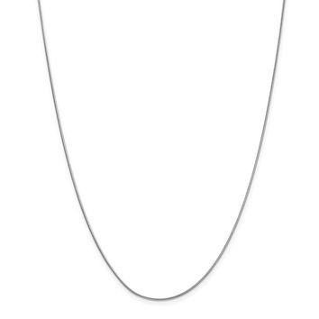 14K White Gold 0.90mm Classic Round Snake Necklace - Fine Jewelry Gift