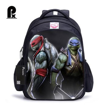 16 Inch Children School Bags Teenage Mutant Ninja Turtles Orthopedic Backpack Kids School Boys Mochila Infantil Catoon Bags Gift