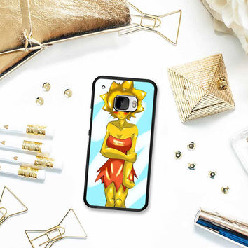 Lisa Simpsons Art HTC One M10 Case Planetscase.com