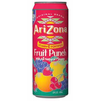 Arizona Tea Fruit Punch 11.5 Oz Slim Can Pack of 12
