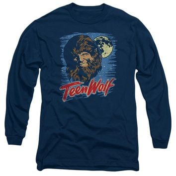 Teen Wolf - Moon Wolf Long Sleeve Adult 18/1 Officially Licensed Shirt