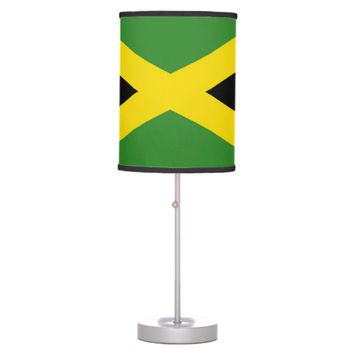Patriotic table lamp with Flag of Jamaica