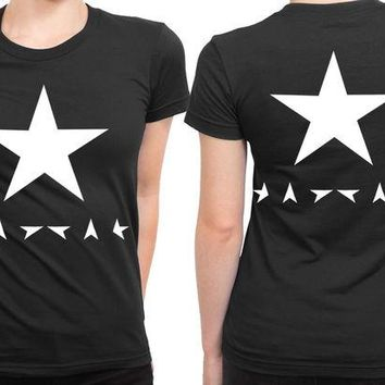 DCCK7H3 David Bowie Blackstar 2 Sided Womens T Shirt