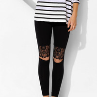 Pins And Needles Lace Knee-Cutout Legging - Urban Outfitters