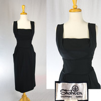 Vintage Shaheen Wiggle Dress Bombshell Shelf Bust