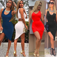 Sexy Women Casual Sleeveless Bodycon Party Evening Cocktail Short Mini Dress