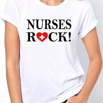 Nurses Rock! T-Shirt - RN, LPN, Nurses Aide, Emergency Room
