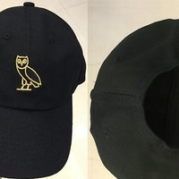 rare Drake ovo october cap OWL GOLDEN snapback hat black Free shipping