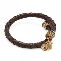 Chocolate Braided Leather Wrap