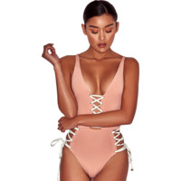 Kendra Lace Up Body Suit