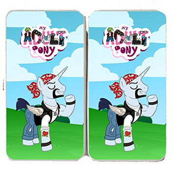 'Badicorn Biker' Funny Animal Cartoon Parody - Taiga Hinge Wallet Clutch