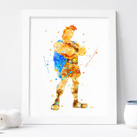Hercules Poster - Disney Wall Art - Watercolor Print