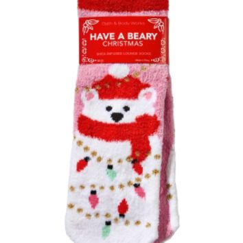 Shea-Infused Lounge Socks Have a Beary Christmas