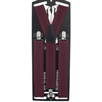 Red Solid Suspenders