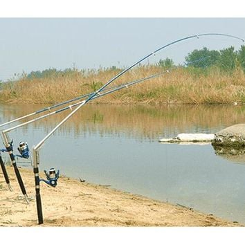 1.8/ 2.1 /2.4 /2.7M Automatic Fishing Rod Sea River Lake Stainless Steel Automatic Fishing Rod Fish Pole