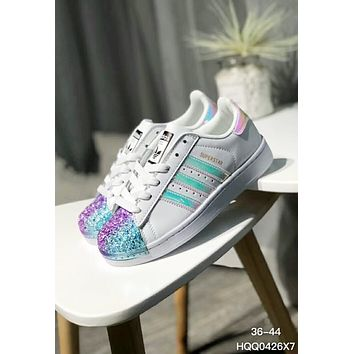 new style 58fd9 055a4 Adidas Superstar Copper Metal Shell-Toe Fashion Casual Laser Fla