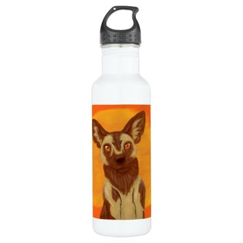 African Wild Dog Stainless Steel Water Bottle
