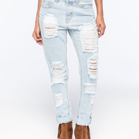 ALMOST FAMOUS Distressed Rolled Cuff Womens Skinny Jeans | Skinny
