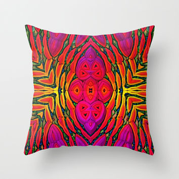 Saturation Overload Throw Pillow by Lyle Hatch