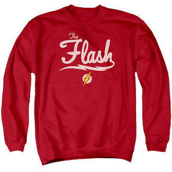Adult DC Comics Old School Flash Crew Neck Sweatshirt
