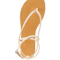 BRAIDED THONG SANDALS