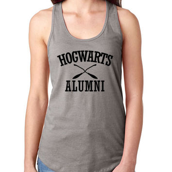Hogwarts Alumni Ladies Gray Tank Top