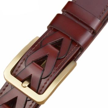 Men's 100% Genuine Leather Fine Luxury Handmade Belt