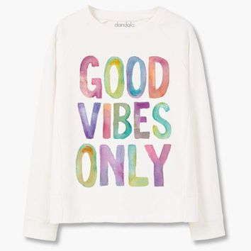 CUPUP9G Sweatshirt 'Good Vibes Only'