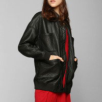 Silence + Noise Textured Boyfriend Bomber Jacket - Urban Outfitters