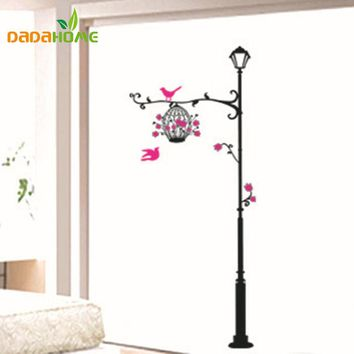 telephone pole birdcage DIY wall sticker for kids rooms muurstickers home decor living room wall decal