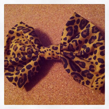 Cheetah Hair Bow