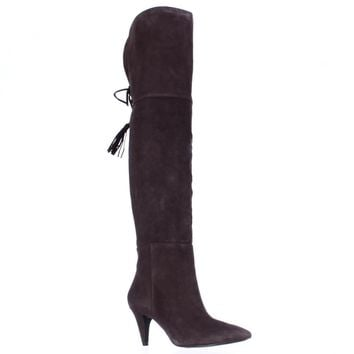 Nine West Josephine Over-The-Knee Boots, Dark Brown, 9.5 US