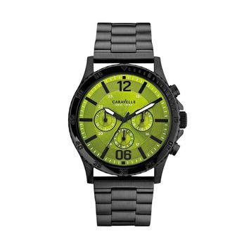Caravelle New York by Bulova Watch - Men's Black Ion Stainless Steel Chronograph