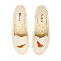 Soludos Watermelon Sand Smoking Slipper for Women - Soludos Espadrilles