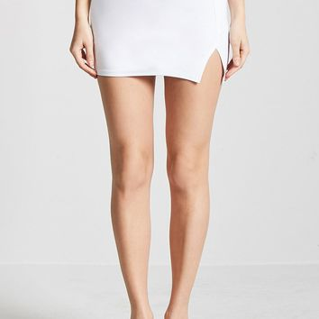 Side-Slit Mini Skirt
