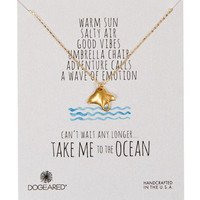 Dogeared Take Me to the Ocean Stingray Necklace - Gold