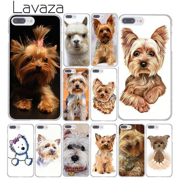 Lavaza 1096F yorkshire terrier dog puppy Hard Coque Shell Phone Case for Apple iPhone 8 7 6 6S Plus X 10 5 5S SE 5C 4 4S Cover