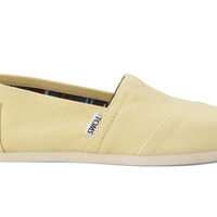 TOMS Yellow Women's Canvas Classics Yellow