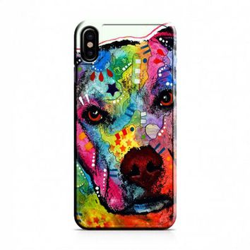 Pitbull Love Painting iPhone X Case