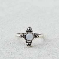 AEO SILVER COMPASS RING