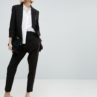 ASOS Mix & Match Blazer with Rouched Sleeve at asos.com