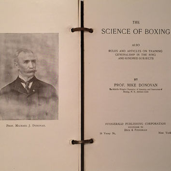 1800s The Science of Boxing First Edition Antiquarian Book Americana Bound Early Published 1893 Rare SCARCE Copy FAB Photos Mike Donovan